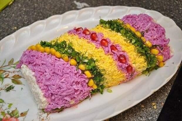 Подборка 10 праздничных нарядных салатов