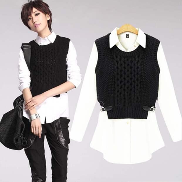 Комбинированные блузки