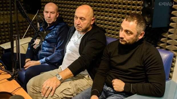 Максим Бриус с исполнителями главных ролей фильма «Шугалей-2»