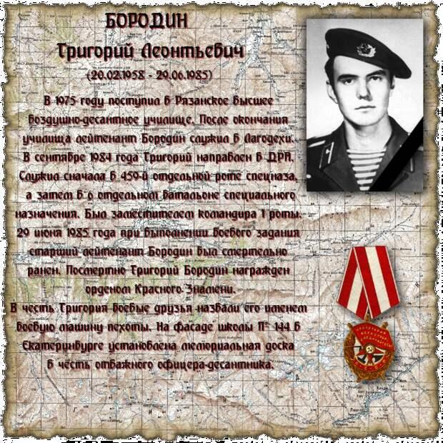 Старший лейтенант БОРОДИН Григорий Леонтьевич