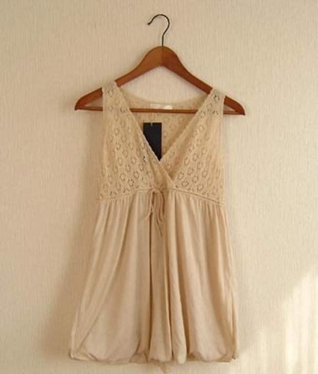 Идеи для переделок одежды - комбинируем ткань с вязанием