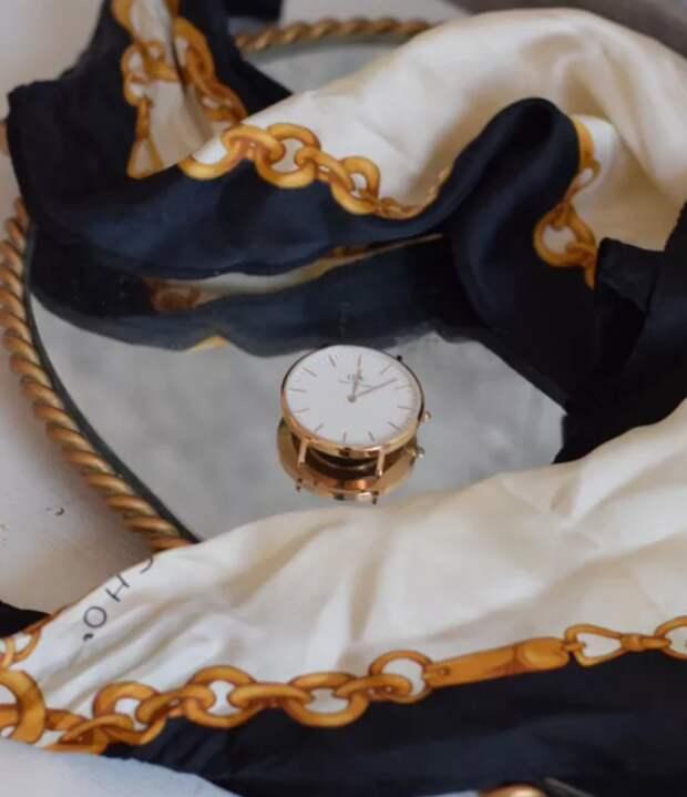 Часы на платке (diy)