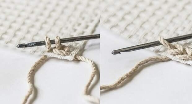 как связать коврик из лоскутков