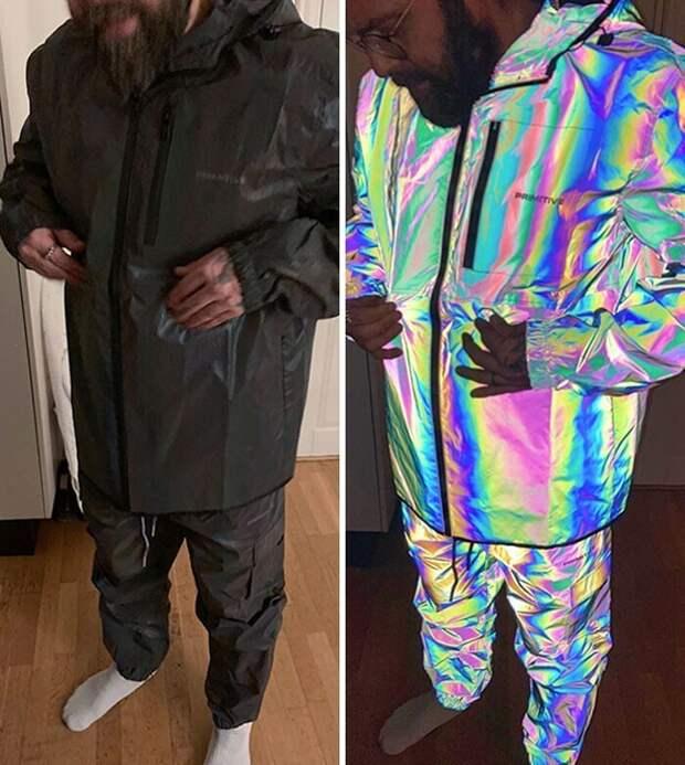 Куртка, которая в темноте превращается в светоотражатель