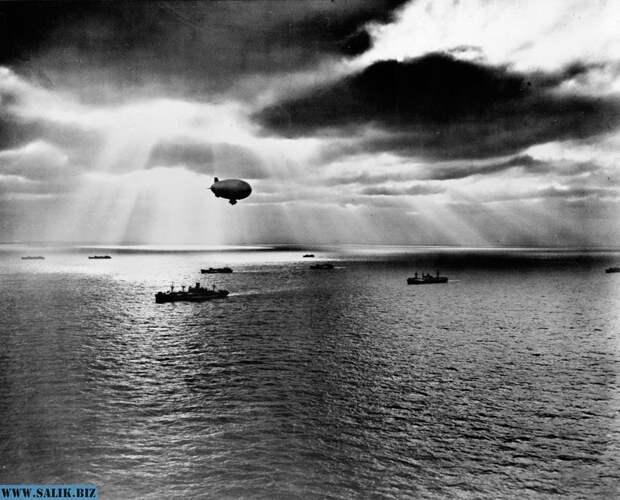 С целью своевременного обнаружения угроз со стороны японских подводных лодок американские вооруженные силы использовали дирижабли.