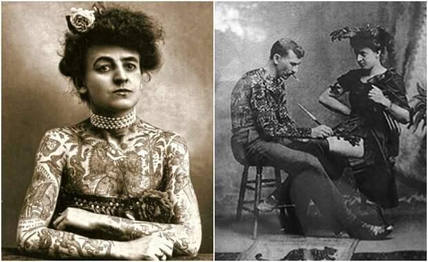Женщина-татуировщик, которую муж украсил рисунками, изменила мировоззрение дам викторианской эпохи