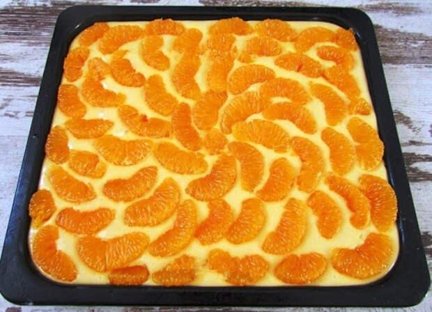 Рецепт праздничного пирога с мандаринами. Аромат создаст праздничное настроение!