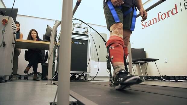 В Стэнфорде создали экзоскелет, который увеличивает скорость ходьбы на 40%