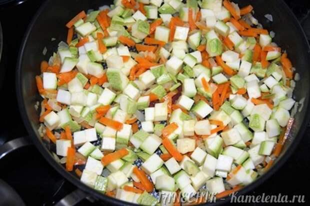 Приготовление рецепта Полба с овощами шаг 4
