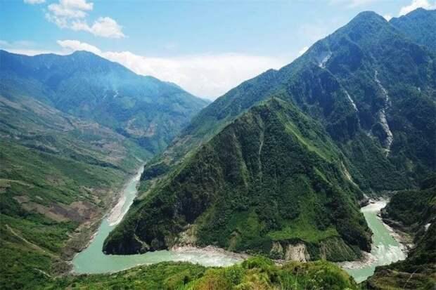 Высокогорная река Ярлунг-Цангпо