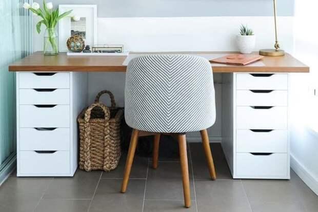 Отличные идеи рабочих столов для небольших помещений
