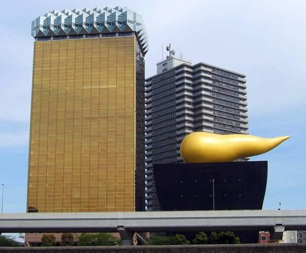 Пламя Asahi, Токио, Япония, Азия