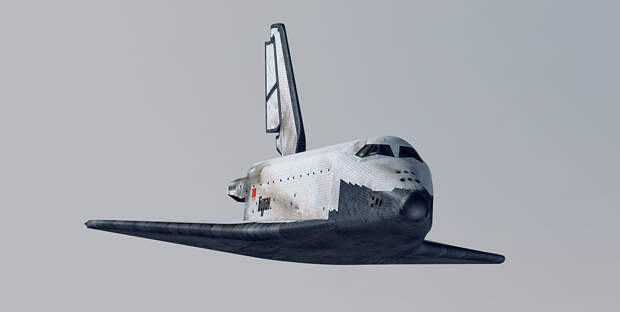 """Полет орбитального корабля """"Буран"""" 15 ноября 1988 г."""