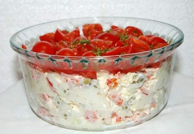 Фото к рецепту: Салат красная шапочка.