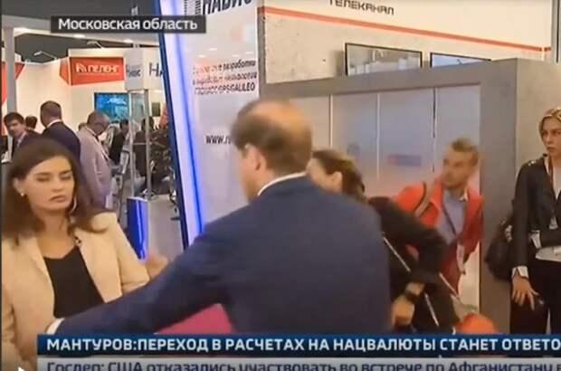 Корреспондентка «России 24» потеряла сознание во время общения с чиновником (ВИДЕО)