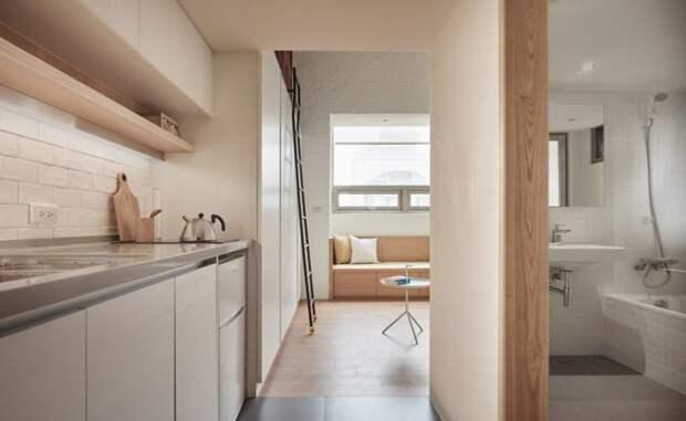 По причине урбанизации квартиры в больших городах становятся все более тесными дизайн, идея, квартира, комната, планировка, пространство, студия