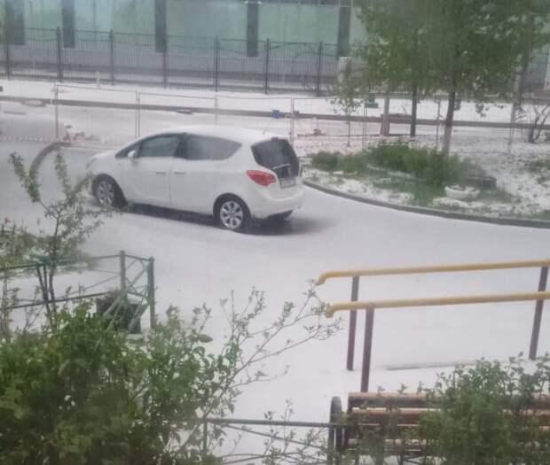 «Майский снег», прошедший в Северном, не растаял и к утру