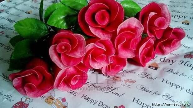Розы из капрона. Красивые идеи и мастер-класс (60) (593x334, 123Kb)