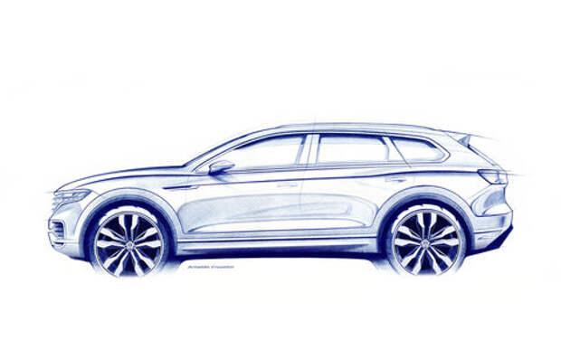 Новый Volkswagen Touareg: первые официальное изображение и информация