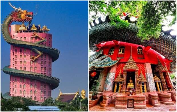 Нестандартный и загадочный буддистский «Храм Дракона» наконец-то открыл свои двери для туристов