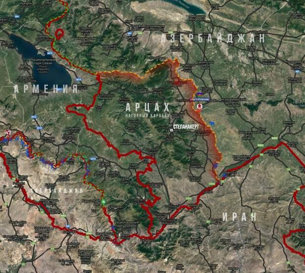 Азербайджан объявил о контрнаступательной операции в Карабахе