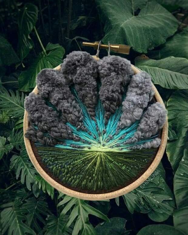 Вышивки с облаками Shimunia