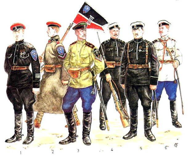 Военные из Корниловского и Марковского полков, период Гражданской войны. Источник иллюстрации: http://imtw.ru