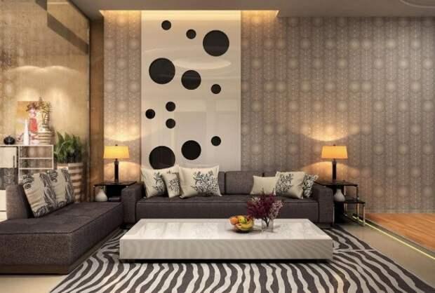 футуристический стиль в гостиной как скомбинировать обои