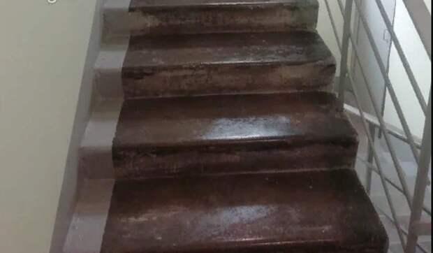 В доме на Братиславской подъезд отмыли до блеска