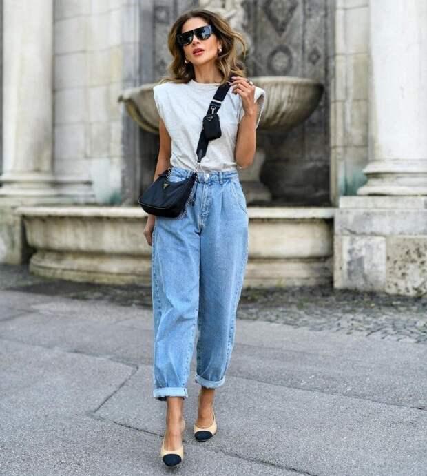 С чем надеть свободные джинсы, чтобы выглядеть стройнее и моднее