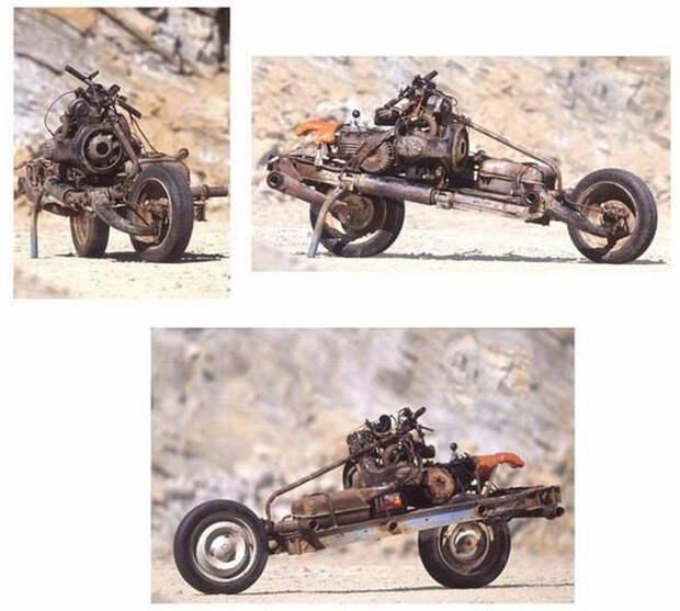 Его машина сломалась посреди пустыни. Но он нашел выход из ситуации