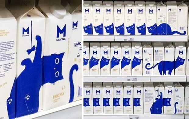 Просто молочные пакеты для любителей котиков