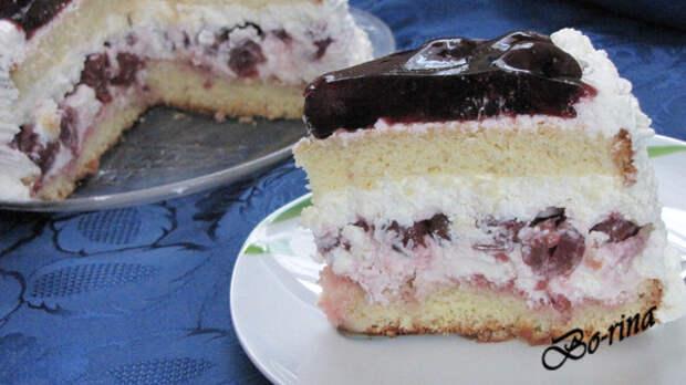 """Творожный торт """"Черешенка"""""""