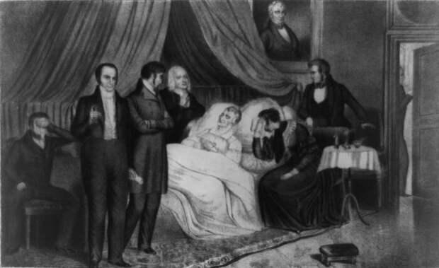 Уильям Генри Харрисон, сморенный недугом. \ Фото: vox.com.