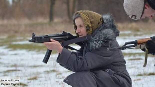 Украинская бабушка-каратель взорвала Интернет