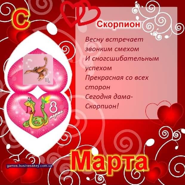Поздравительные открытки на 8 марта по знакам зодиака,прикольные картинки,приколы
