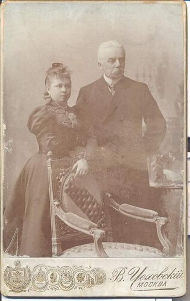 Н.И.Чайковский с женой Ольгой.