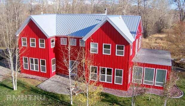 Красивые дома с фасадом из металлического сайдинга