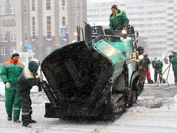 Власти Москвы: ремонт дорог зимой это нормальное явление