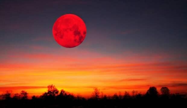 Как повлияет на организм «кровавая» Луна