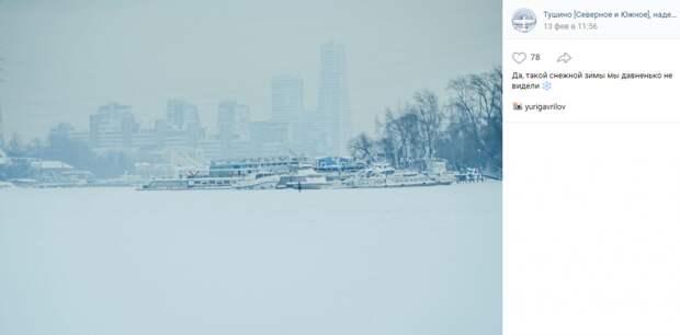 Фото дня: снежное королевство на просторах Тушина