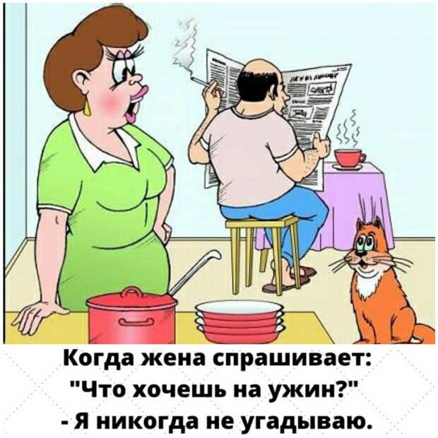 Жена - мужу:  - Дорогой, ты так долго не говорил мне три заветных слова...