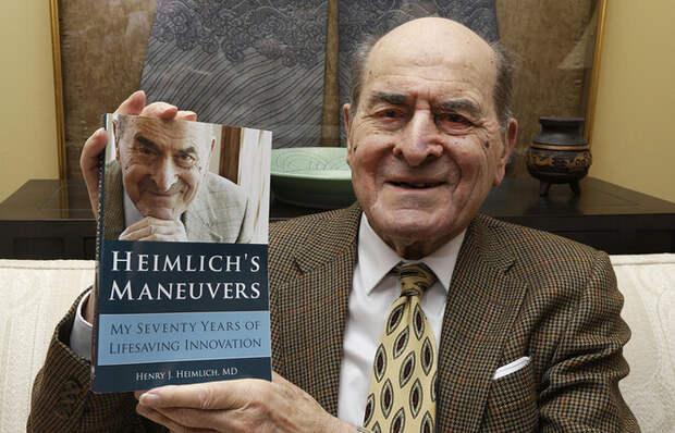 Генри Геймлих на презентации своей автобиографии.
