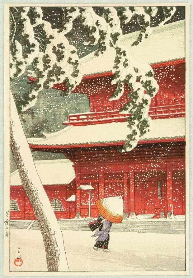 Двадцать видов Токио, 1925-30 гг. Автор: Кавасэ Хасуй.