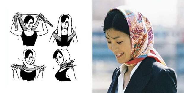 Как красиво завязать платок на голове: фото идеи