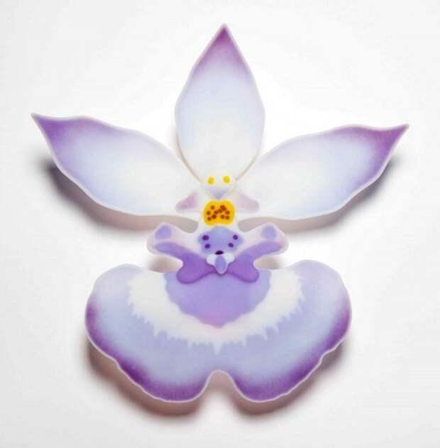 Очаровательные, красочные орхидеи из стекла Лауры Харт