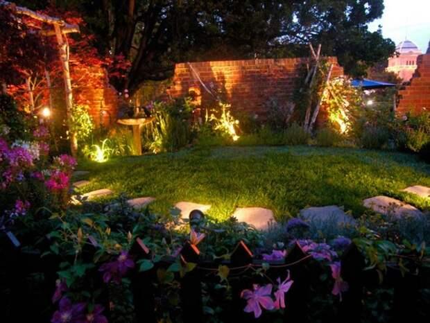 Организация садового освещения