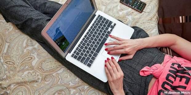 Почти полмиллиона онлайн-уроков провели учителя за неделю. Фото: М. Денисов mos.ru