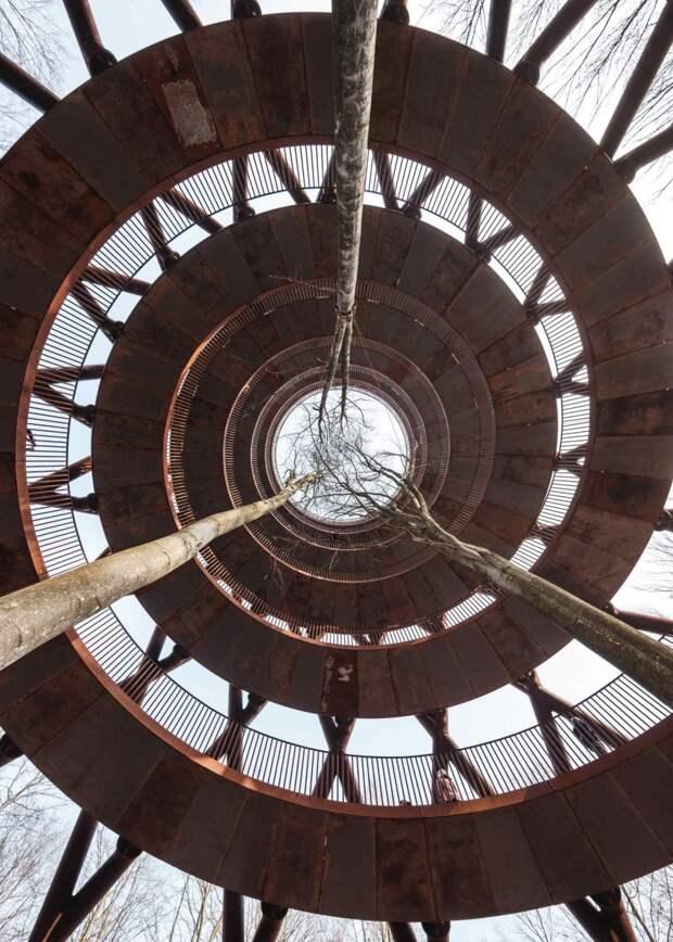 6 фотографий необычной спиралевидной смотровой площадки в Дании