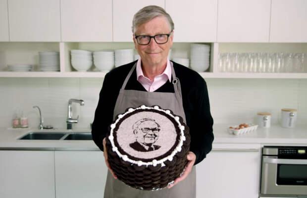 Билл Гейтс испек торт для миллиардера-именинника